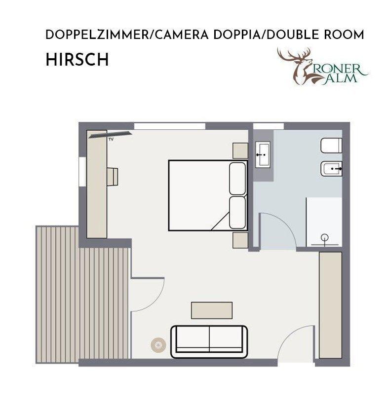 Doppelzimmer HIRSCH