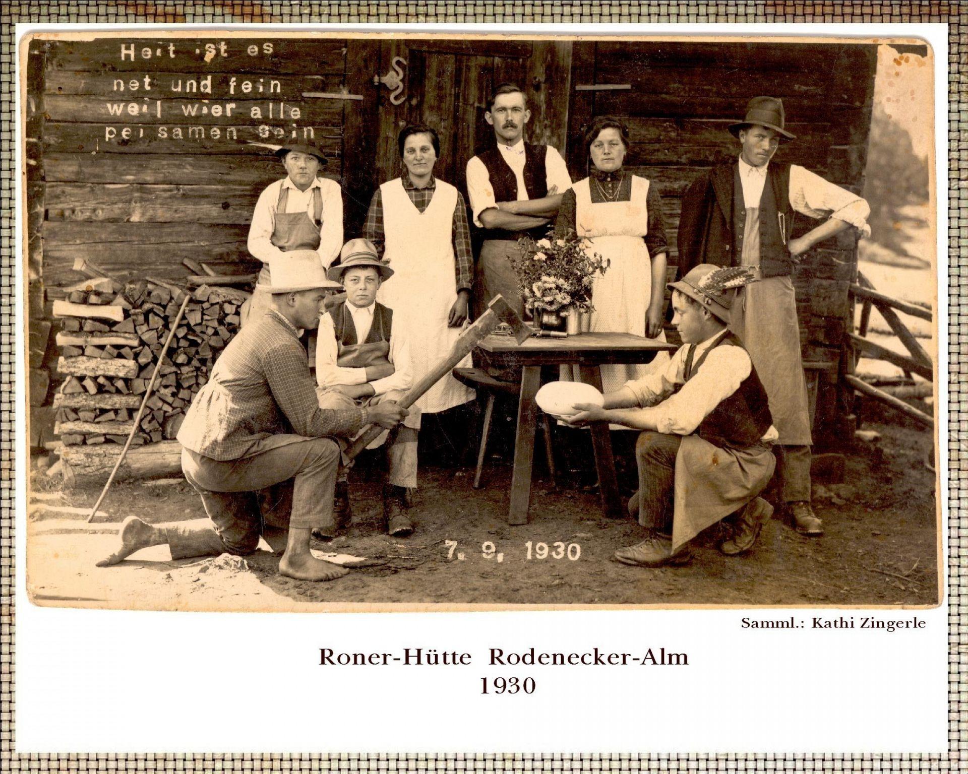 Ronerhütte 1930